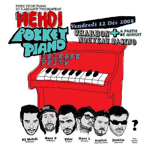 DJ Mehdi - Pocket Piano release party Café Charbon
