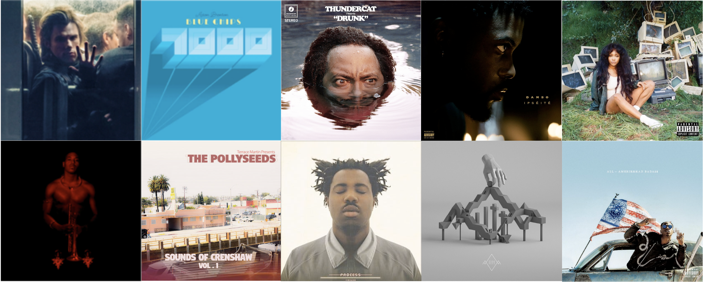 best of 2017 albums BfromLu